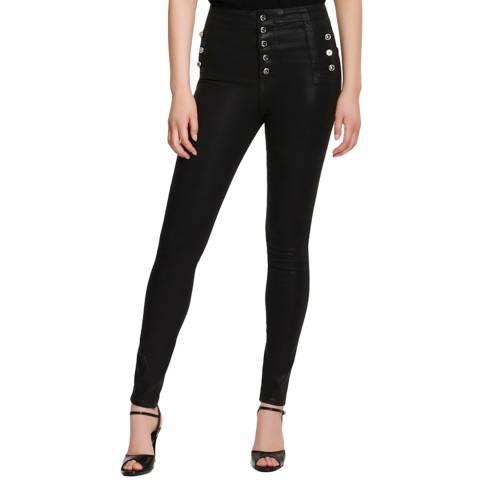 J Brand Black Coated Natasha High Stretch Jeans