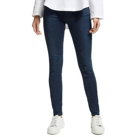 J Brand Indigo Maria High Rise Skinny Stretch Jeans