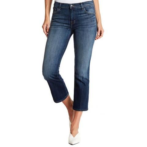 J Brand Blue Aubrie Crop Bootcut Stretch Jeans