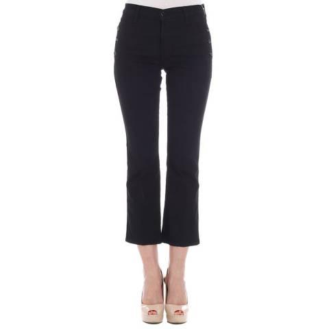 J Brand Black Zion Crop Bootcut Stretch Jeans