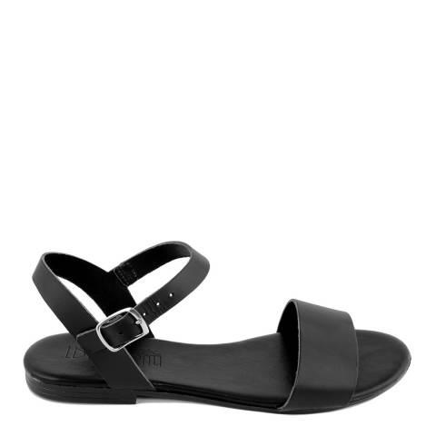 Triple Sun Black Single Strap Sandal
