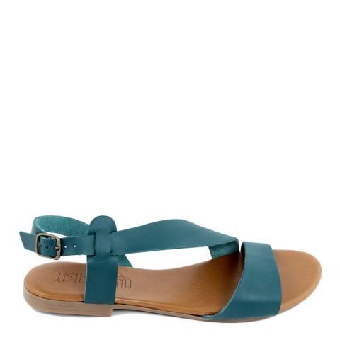 Triple Sun Blue Leather Crossover Sandal