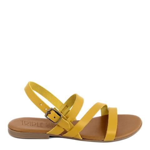 Triple Sun Yellow Triple Strap Sandal