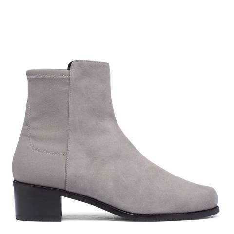 Stuart Weitzman Grey Suede Reserve Ankle Boots