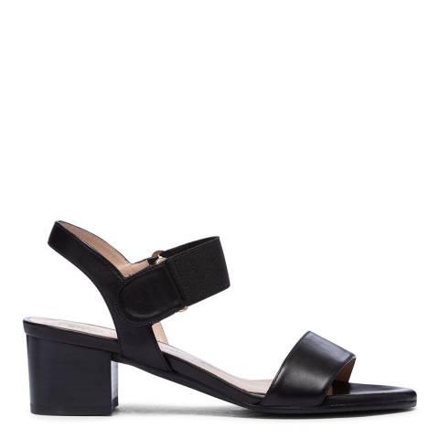 Stuart Weitzman Black Leather Shaila Sandal