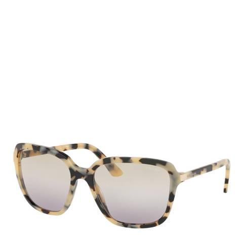 Prada Women's Beige/Black Prada Sunglasses 58mm