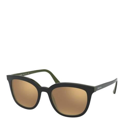 Prada Women's Black/Gold Prada Sunglasses 53mm