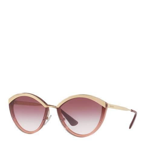 Prada Women's Pink/Gold Prada Sunglasses 64mm