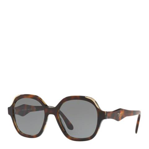 Prada Women's Brown/Gold Prada Sunglasses 54mm
