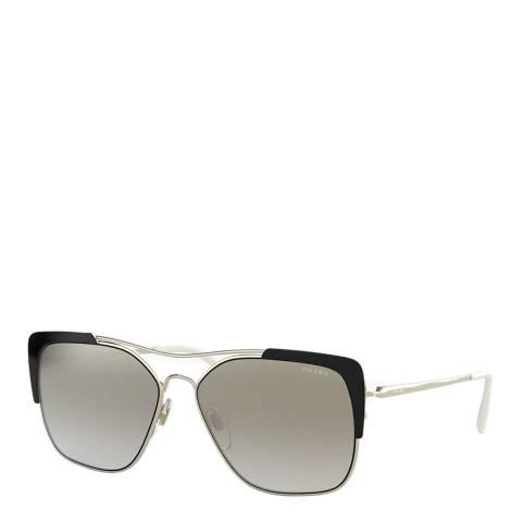 Prada Women's Silver/Black Prada Sunglasses 58mm