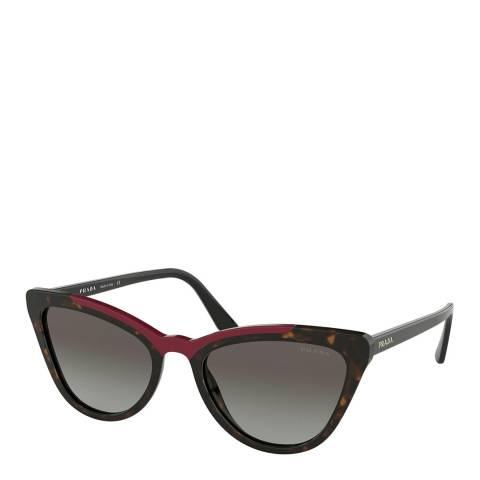 Prada Women's Brown/Red Prada Sunglasses 56mm