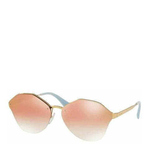 Prada Women's Orange/Gold Prada Sunglasses 66mm