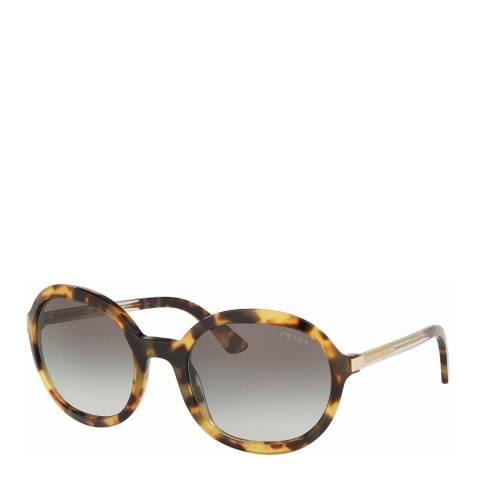 Prada Women's Brown/Black Prada Sunglasses 56mm