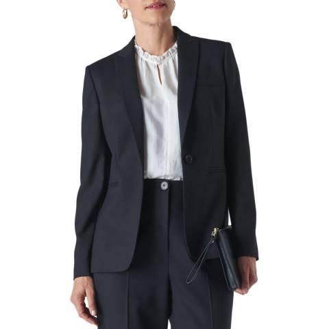 WHISTLES Navy Anita Single Breasted Jacket