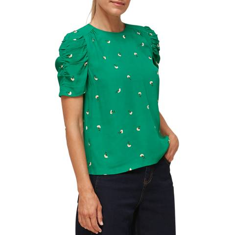 WHISTLES Green/Multi Romantic Floral Nelly Top