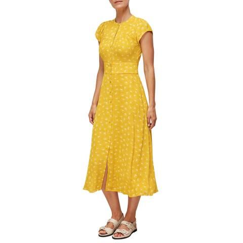 WHISTLES Yellow Isla Dandelion Dress
