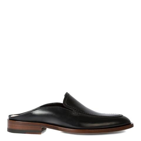 PAUL SMITH Black Slip-On Leather Mules