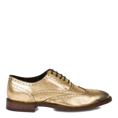 PAUL SMITH Gold Leather Brogues