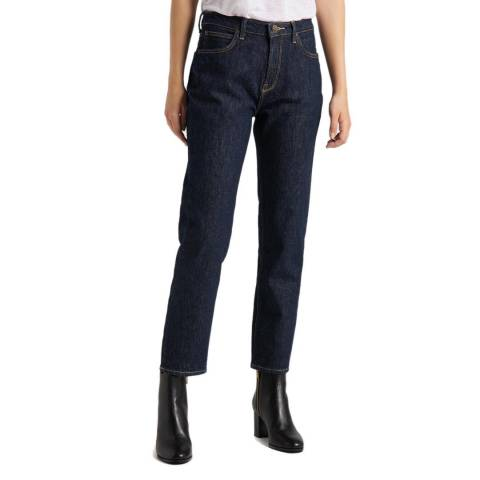 Lee Jeans Dark Indigo Carol Mid Rise Cotton Jeans