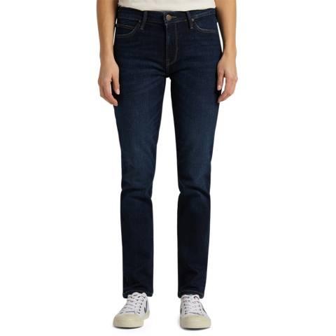 Lee Jeans Dark Blue Elly Straight Leg Cotton Jeans