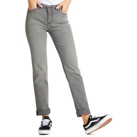 Lee Jeans Grey Marion Straight Leg Comfort Cotton Jeans