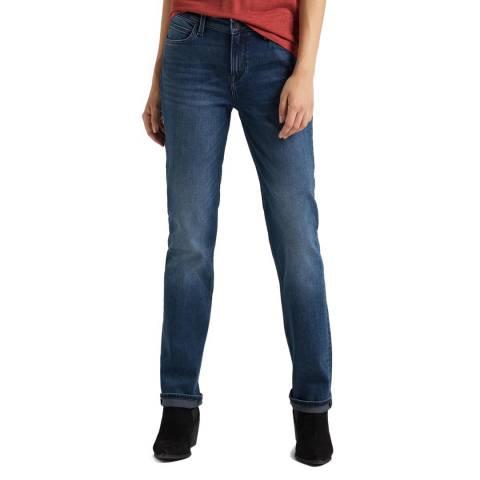 Lee Jeans Dark Wash Marion Blue Straight Leg Cotton Jeans