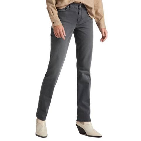 Lee Jeans Grey Marion Straight Leg Cotton Blend Jeans