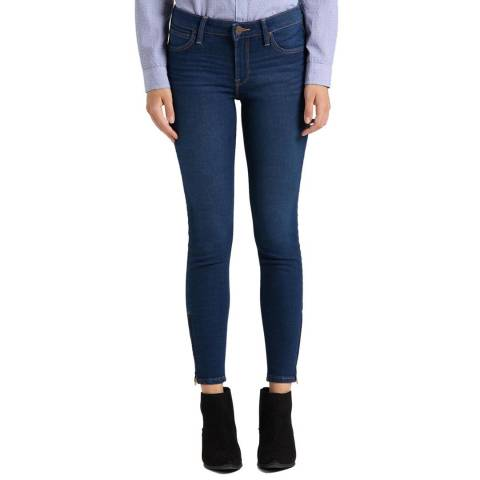 Lee Jeans Dark Blue Scarlett Skinny Cotton Blend Jeans
