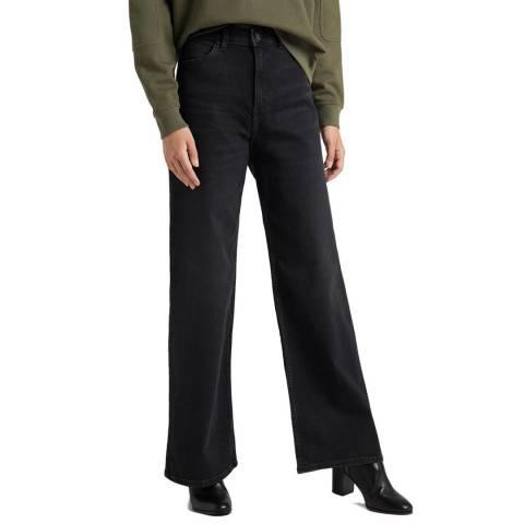 Lee Jeans Black Denim A Line Flare Cotton Jeans