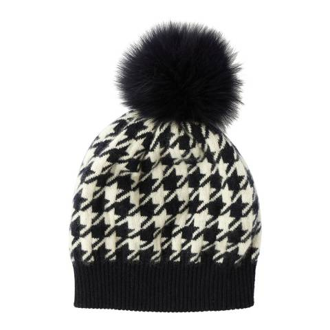 Laycuna London Houndstooth Cashmere Hat