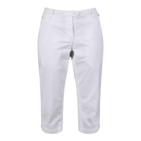 Regatta White Maleena Capri II Shorts