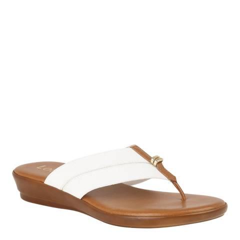 Lotus White Hera Flat Sandal