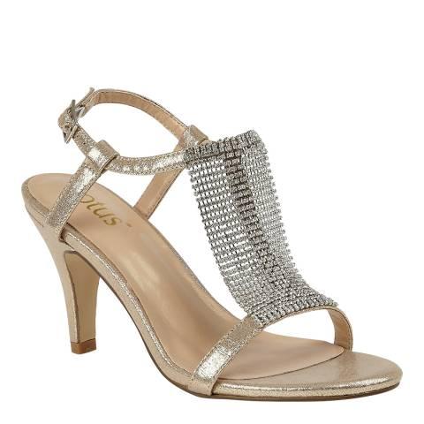 Lotus Gold Aspey Diamante Sandals