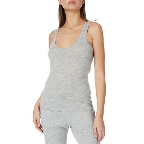 Amanda Wakeley Grey Multi Cashmere Tank Top