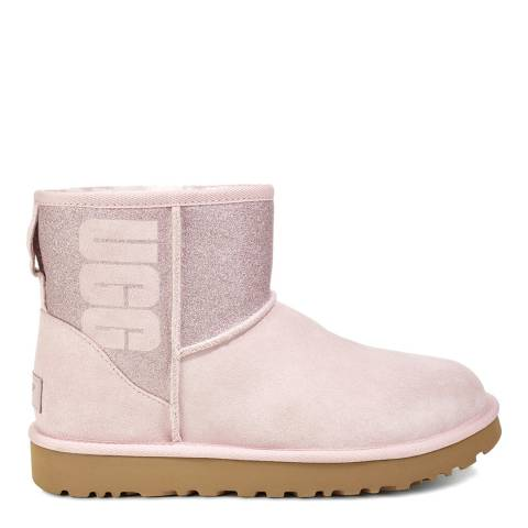 UGG Seashell Pink Classic Mini Sparkle Boots