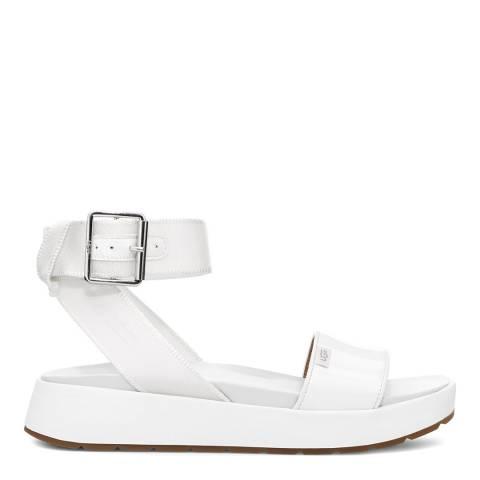 UGG White Lennox Sandals