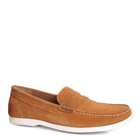 Silver Street Tan Suede Skipper Loafer