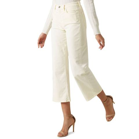 7 For All Mankind Cream Cropped Alexa Jeans
