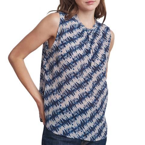 Velvet By Graham and Spencer Multi Printed Tie Back Sleeveless Top