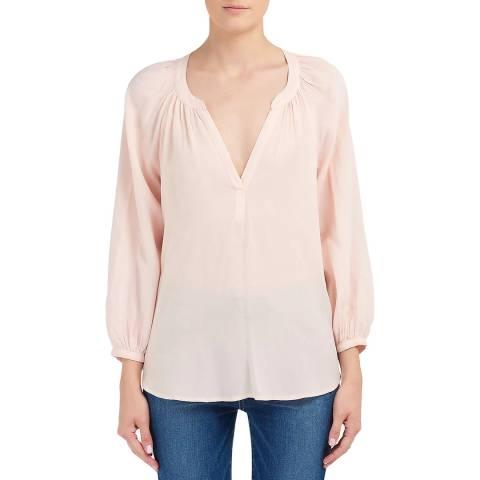 Velvet By Graham and Spencer Blush Pink Long Sleeve Blouse
