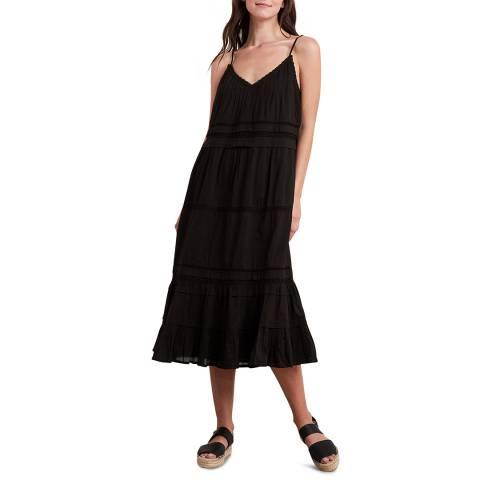 Velvet By Graham and Spencer Black Lace Cotton Midi Dress