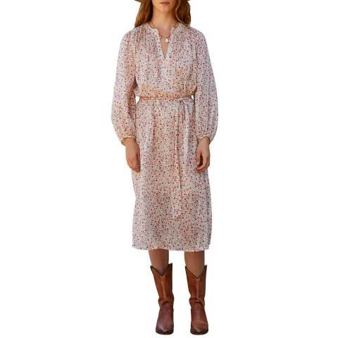 Velvet By Graham and Spencer Poppy Blouson Sleeve Cotton Blend Midi Dress