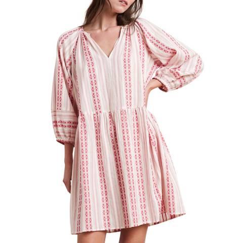 Velvet By Graham and Spencer Multi Stripe Jacquard Cotton Dress