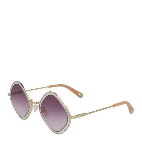 Chloe Women's Gold Chloe Sunglasses 55mm