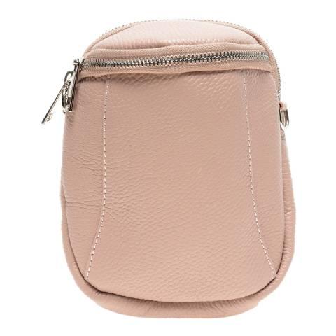 Anna Luchini Pink Leather Crossbody Bag