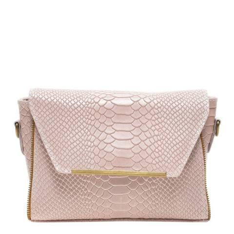 Luisa Vannini Pink Leather Crossbody Bag