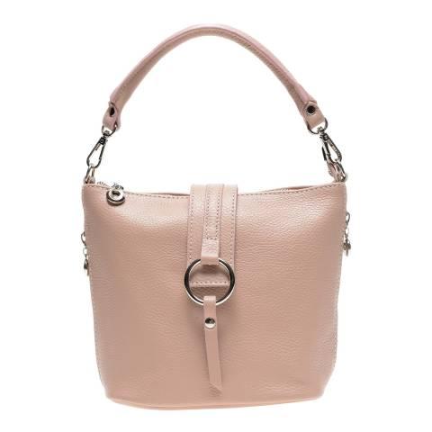 Isabella Rhea Pink Leather Top Handle Bag