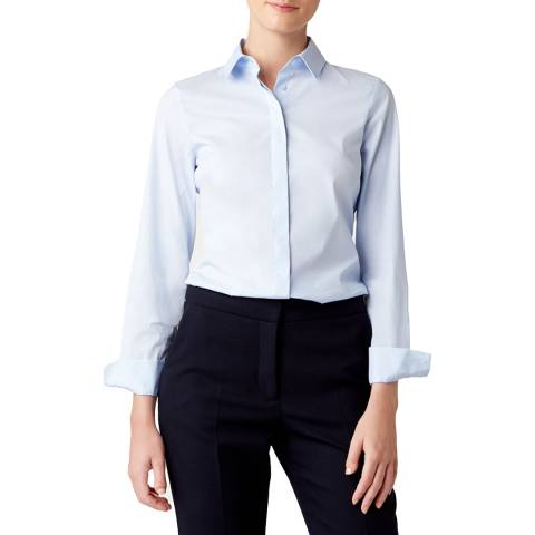 Hobbs London Blue Victoria Long Sleeve Shirt