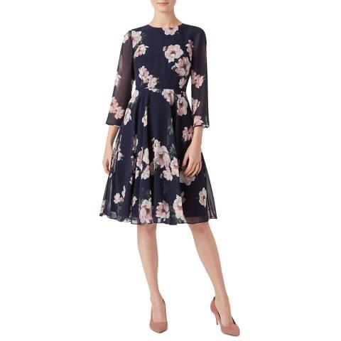Hobbs London Navy Norah Floral Dress