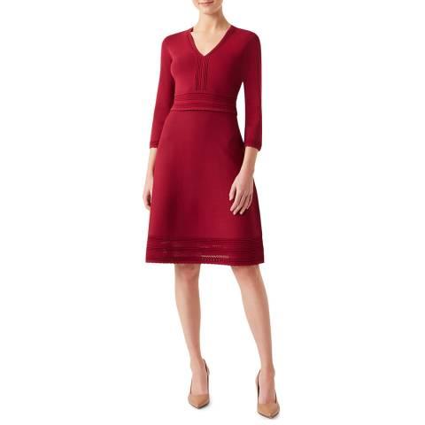 Hobbs London Pink Adalee Knitted Dress
